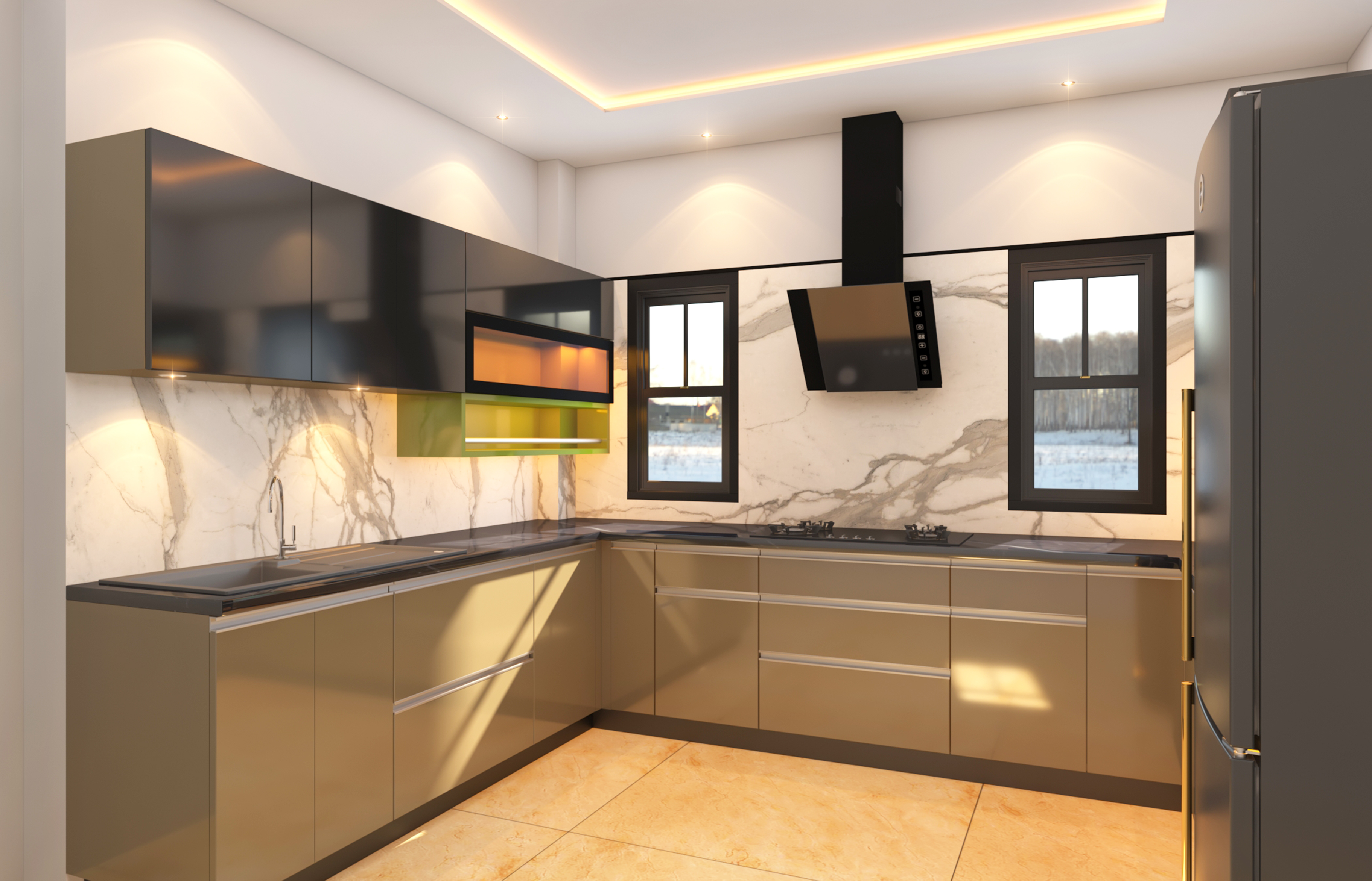 Modular Kitchen Design- L shape: The perfect pick for every kitchen space